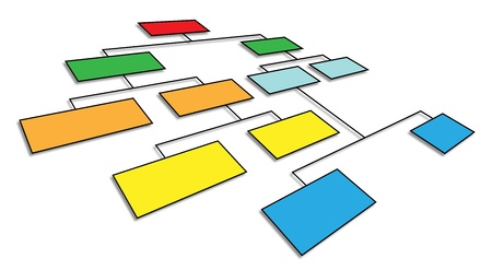 Photo for 3d perspective view of organizational chart - Royalty Free Image