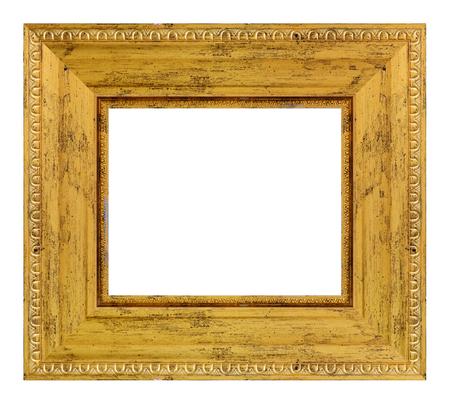 Foto de Vintage golden frame on a white background, isolated - Imagen libre de derechos