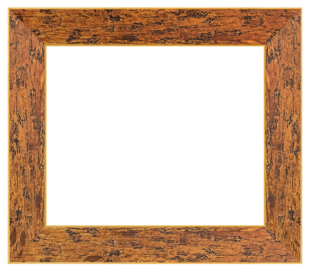 Photo pour Vintage brown frame on a white background, isolated - image libre de droit