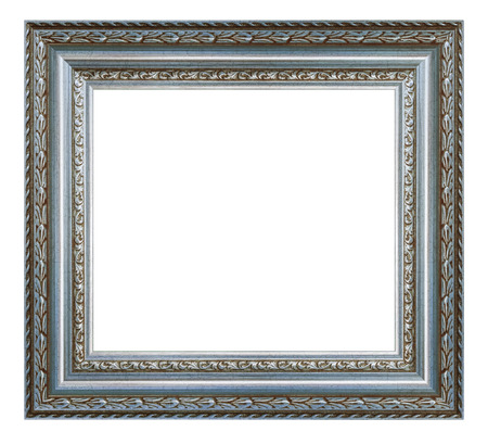 Photo pour Vintage silver frame on a white background, isolated - image libre de droit