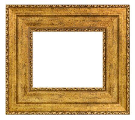 Photo pour Vintage golden frame on a white - image libre de droit