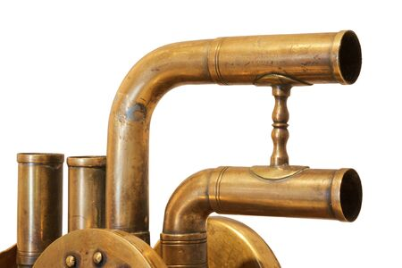 Photo pour Close up view a details of old vintage mechanism - image libre de droit