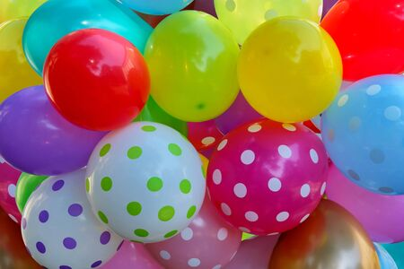 Photo pour Bunch of colorful balloons, colorful background with baloons - image libre de droit
