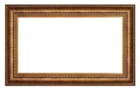 Photo pour Old style vintage golden frame isolated on a white background - image libre de droit