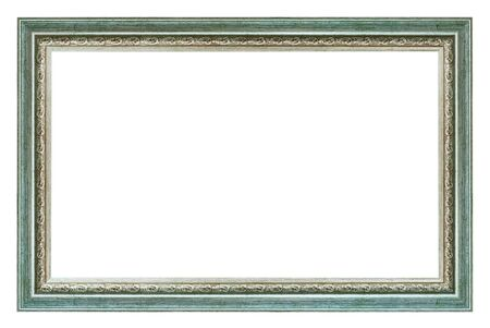 Photo pour Old style vintage silver frame isolated on a white background - image libre de droit