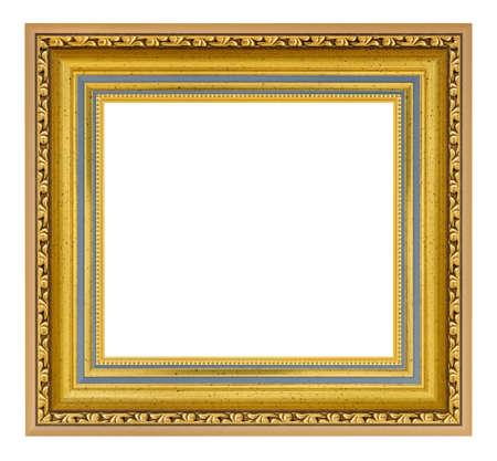 Photo pour Golden vintage square frame on a white background, isolated - image libre de droit