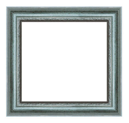 Photo pour Old vintage square silver frame isolated on a white background - image libre de droit