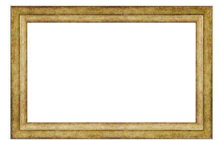 Photo pour Vintage golden frame isolated on a white background - image libre de droit