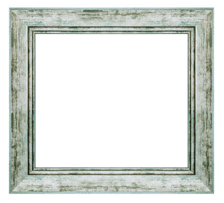 Photo pour Vintage silver frame isolated on a white background - image libre de droit