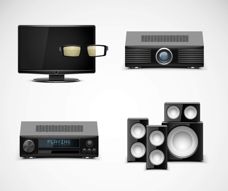 home electronics vector icons
