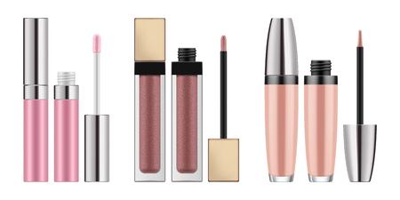 Illustration pour Mock-up of realistic lip gloss - image libre de droit