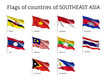 Illustration pour Signs of Southeast Asia states - image libre de droit