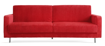 cutout red modern couch