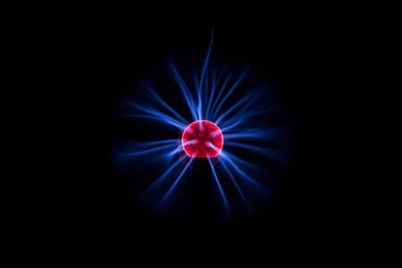 Electric Plasma Ball on Dark Background. Plasma lamp