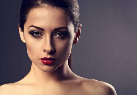 Photo Of Beautiful Makeup Woman With Id 93281654 Royalty Free Image Stocklib