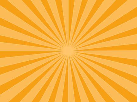 Illustration for Sunburst rays orange background. sunbeam star burst. Vector illustration. eps - Royalty Free Image
