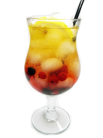 smoothie juice drink with ice and berries