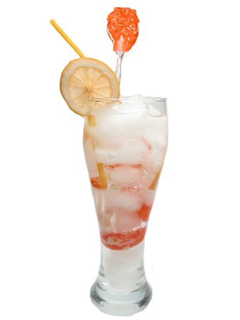 white alcoholic cocktail drink with ice