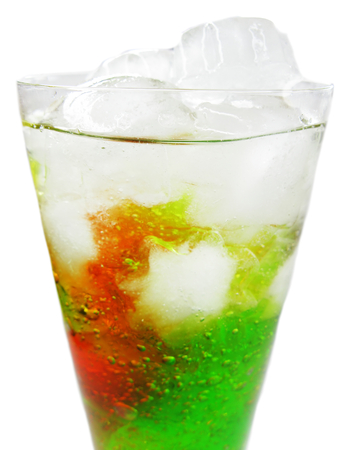 alcoholic cocktail drink with ice