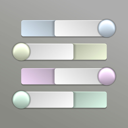 Color Switches.  vector illustration of wall clock. 10 eps