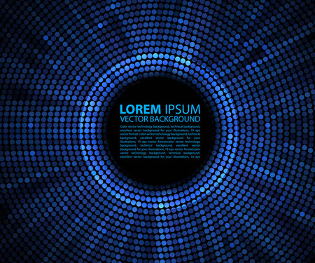 Foto de Abstract background. blue abstract banner halftone circle - Imagen libre de derechos