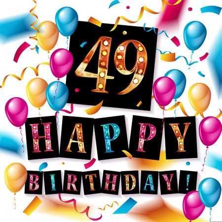 49 Years Anniversary Celebration Design illustration