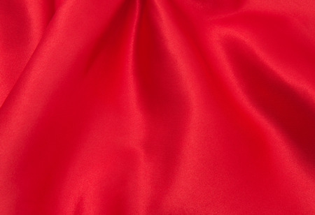 red satin or silk fabric background