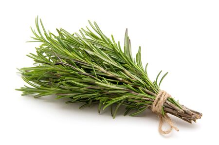 Photo for Rosemary bound on a white background - Royalty Free Image