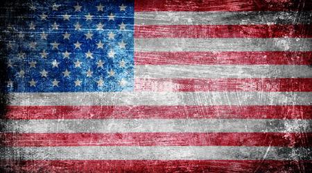 Foto de Closeup of grunge American flag - Imagen libre de derechos