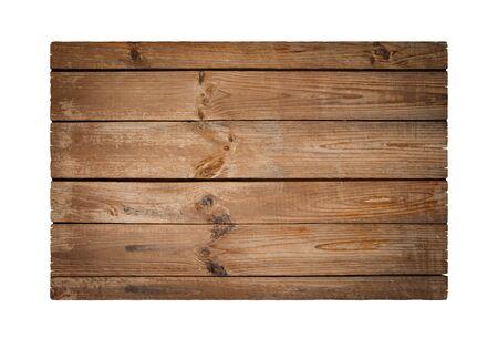 Photo pour Old plank isolated on white - image libre de droit