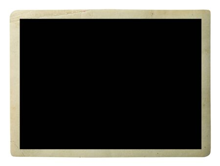 Photo for Blank old photo isolated on white - Royalty Free Image