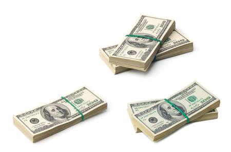 Photo pour American dollars on white background - image libre de droit