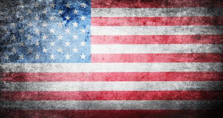 Photo pour Flag of USA grunge background - image libre de droit