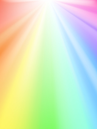 Shiny sky - rainbow light