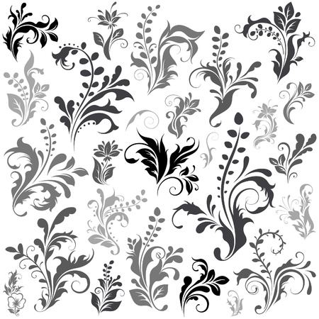 Illustration for Swirly design elements 1 - Royalty Free Image