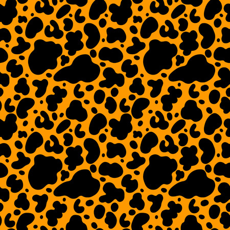 Abstract Print Animal Seamless Pattern In Black And Gold