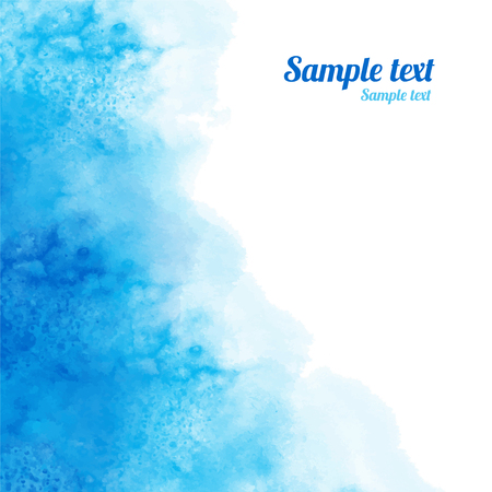 Illustration for Watercolor blue background texture with space for text - vector - Royalty Free Image