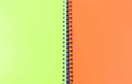 Photo for Bright school notebooks background. Back to school soon. Copy space. - Royalty Free Image