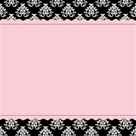 Photo for Baby Girl scrapbook page - Birth Announcement - Royalty Free Image