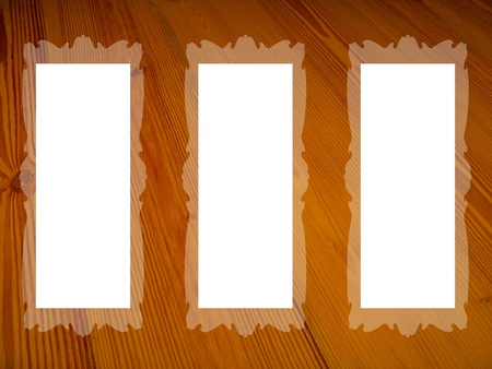 Vintage design frames over old wood texture background