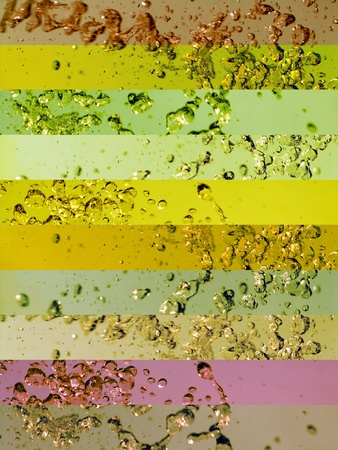 Sober multicolor greenish banners backgrounds with water splashs