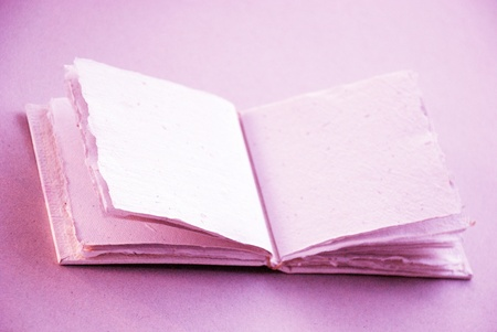 Romantic cotton empty blank hand made book to write love memories