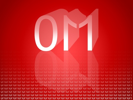 Om mantra in binar code, 01, 011, 1, 11, 0, one, zero, eleven