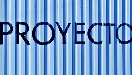 Proeyecto, proyect word over light blue