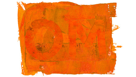 Conceptual image of orange paint om and background union