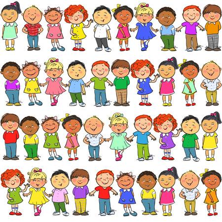 Illustration pour Seamless pattern with kids on it - image libre de droit