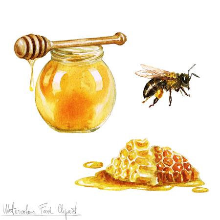 Foto de Watercolor Cooking Clipart - Honey - Imagen libre de derechos