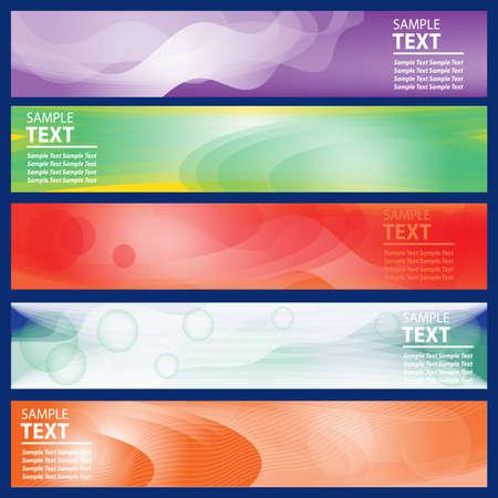 Photo pour Banner set. Business design horizontal elegant template. Vector illustration. - image libre de droit