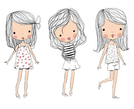 Ilustración de cute baby kids  - Imagen libre de derechos