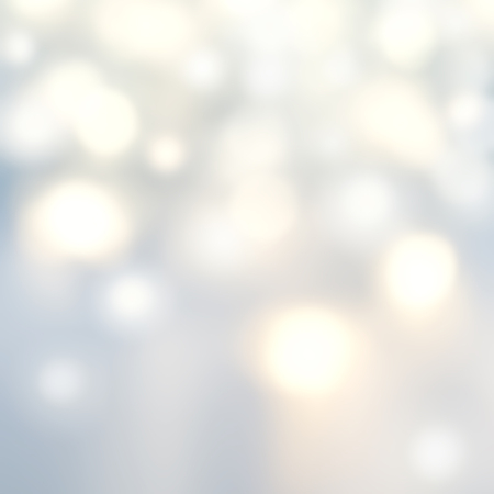 Beautiful Christmas background with silver lights and stars. Abstract Festive lights white and grey color.